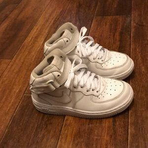 Nike Air Force 1 Mid White Shoes- 13c